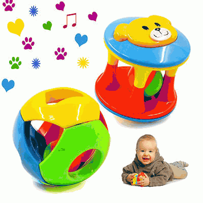 2pcs Baby Toy Ring jingle baby   playing