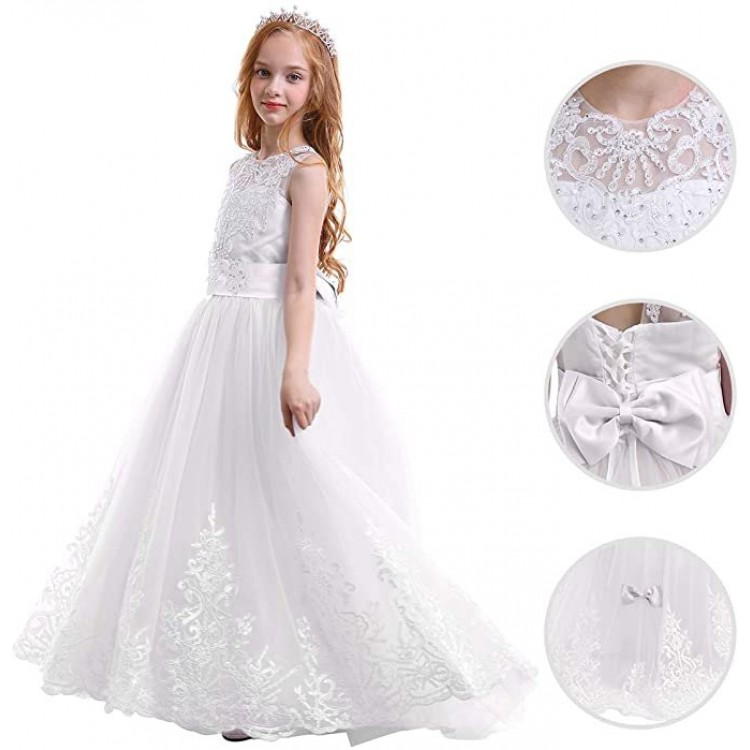 Mamababy.online, White Princess Dress Long, Princess, Princess dress, princess dress, girl dress, party dress, feeding, mother, baby, feeding bottles, baby shoes, swimsuits, summer accessories, t-shirt, maternity, shocks, costumes, nursing, bags, mother b