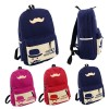 Mustache Travel Backpack Blue