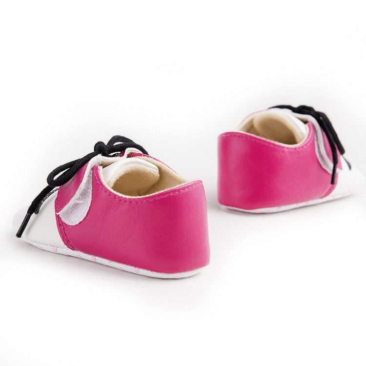 Mustache baby Shoes Pink