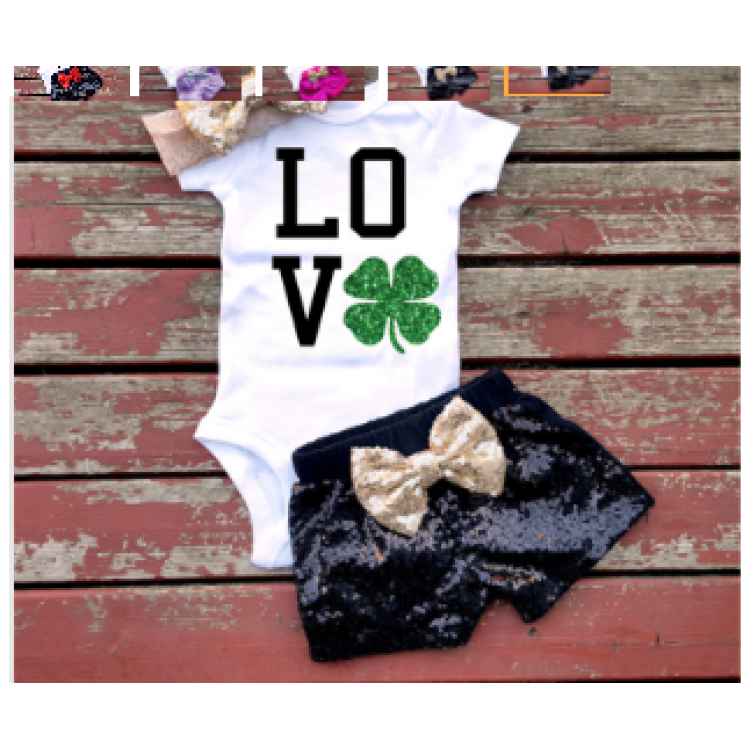 Clothing Set for baby Girl Love