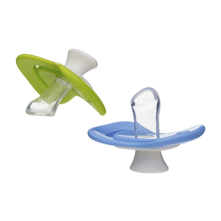 Soother iiamo peace 0-6 Months 2 pcs  green-blue