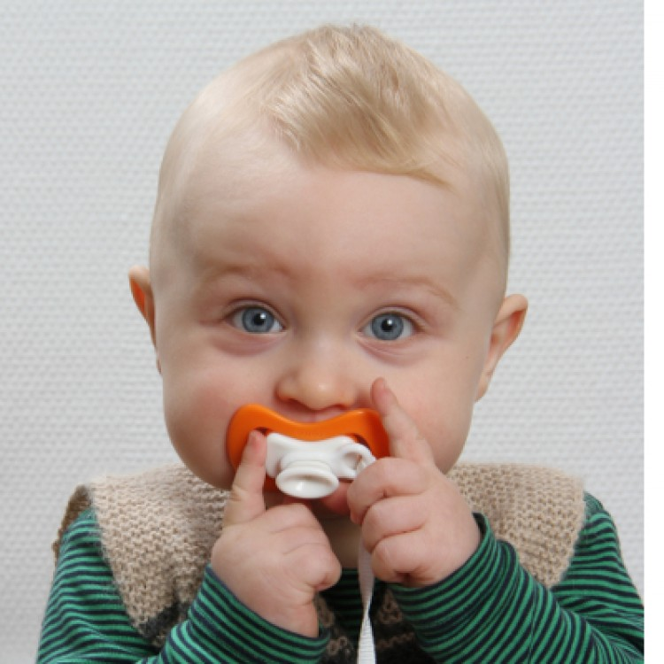 Soother iiamo peace 0-6 months 2 pcs  orange-blue