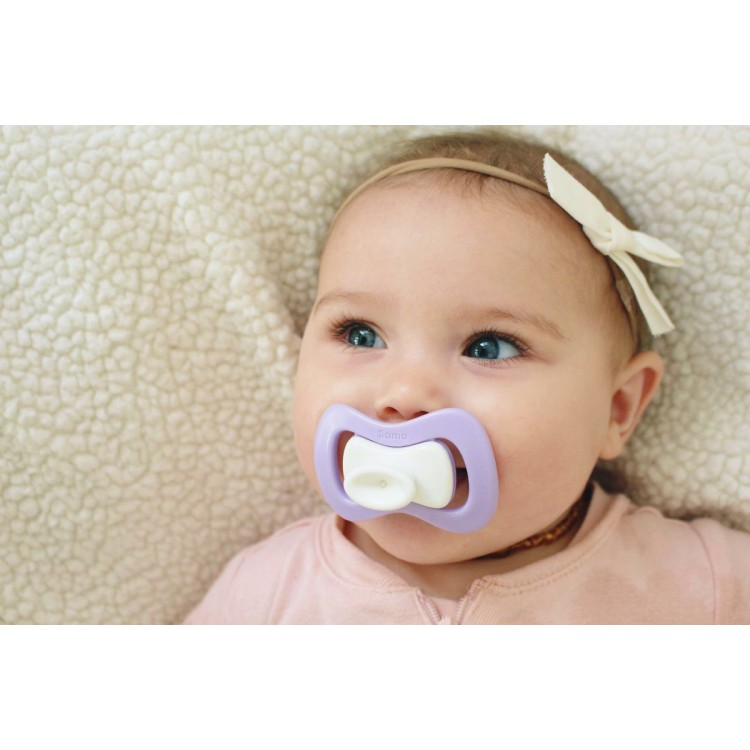 Soother iiamo peace 6+ Months 2 pcs  pink-purple