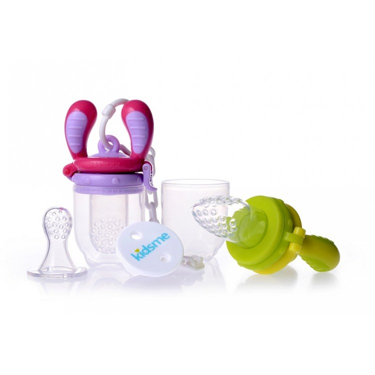 Kidsme - Food Feeder Starter Pack Lime - Pink, princess dress, girl dress, party dress, feeding, mother, baby, feeding bottles, baby shoes, swimsuits, summer accessories, t-shirt