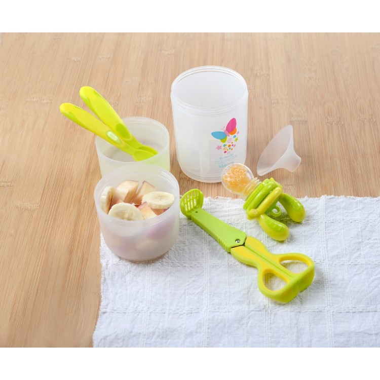 Kidsme - Baby Travel Easy Set with Food Container Lime