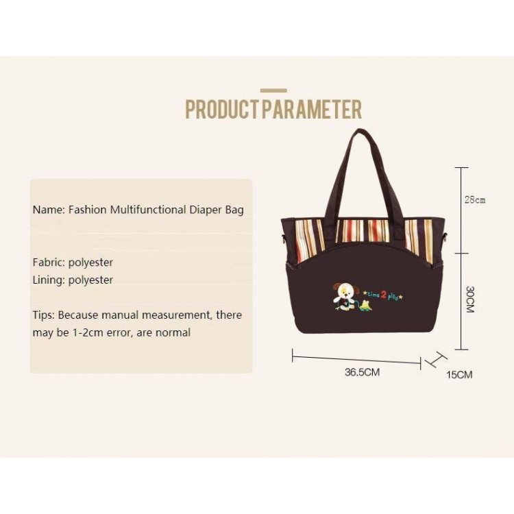 Baby Diaper bag for Mother Brown