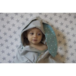 Autonomy hooded towel Bunny Stars Grey