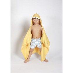 Autonomy hooded towel Shark Yellow