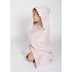Autonomy hooded towel Shark Light Pink