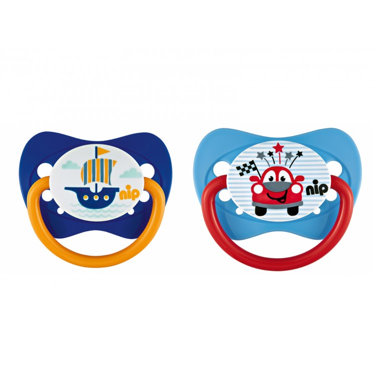 Set of 2 Nip soothers Family Boat and Auto 0-6