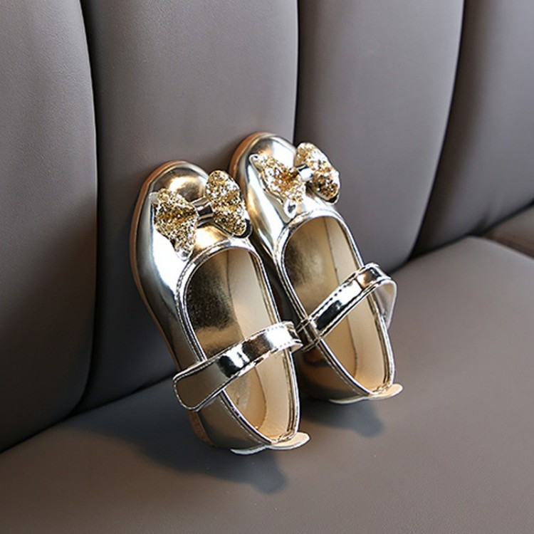 Mamababy.online, Bowknot Velcro Closure Dancing Shoes - Gold, Shoes, Accessories, princess dress, girl dress, party dress, feeding, mother, baby, feeding bottles, baby shoes, swimsuits, summer accessories, t-shirt, maternity, shocks, costumes, nursing, ba