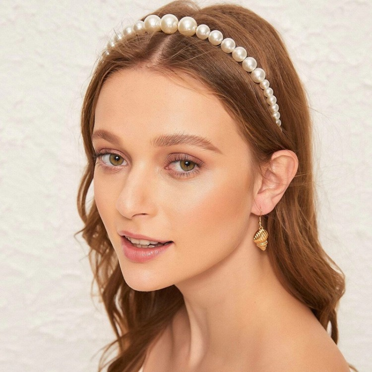 Handmade Knotted Pearl Headband Headwear - White, princess dress, girl dress, party dress, feeding, mother, baby, feeding bottles, baby shoes, swimsuits, summer accessories, t-shirt