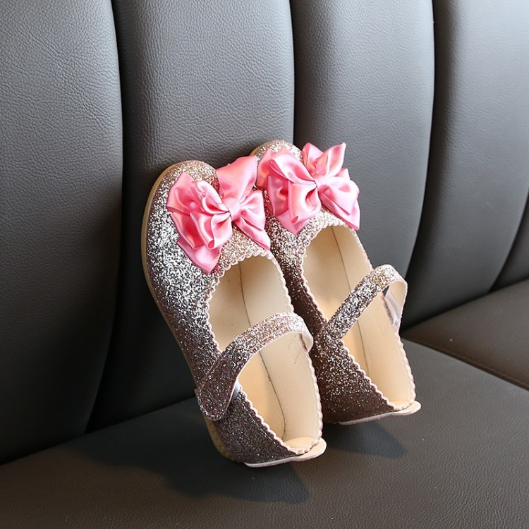 Mamababy.online, Elegant Sequined Allover Bowknot Decor Velcro Princess Pink, Shoes, Accessories, princess dress, girl dress, party dress, feeding, mother, baby, feeding bottles, baby shoes, swimsuits, summer accessories, t-shirt, maternity, shocks, costu