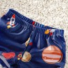 Cartoon Rocket Print Trunk and Hat Swimsuit Set, princess dress, girl dress, party dress, feeding, mother, baby, feeding bottles, baby shoes, swimsuits, summer accessories, t-shirt