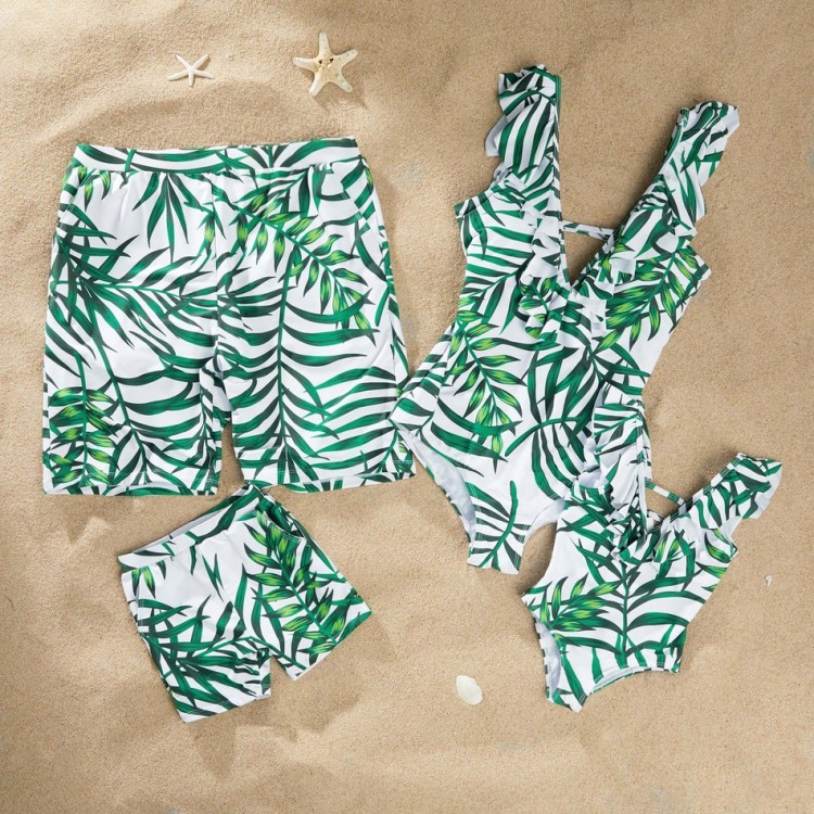 Swimsuit Green Leaf, princess dress, girl dress, party dress, feeding, mother, baby, feeding bottles, baby shoes, swimsuits, summer accessories, t-shirt