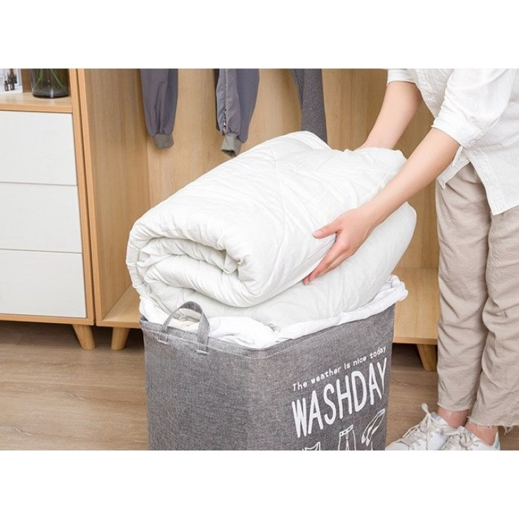 Laundry Bag With Drawstring - Coffee
