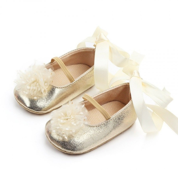 Mamababy.online, Flower Soft Lace Prewalker Shoes Gold, Shoes, Accessories, princess dress, girl dress, party dress, feeding, mother, baby, feeding bottles, baby shoes, swimsuits, summer accessories, t-shirt, maternity, shocks, costumes, nursing, bags, mo