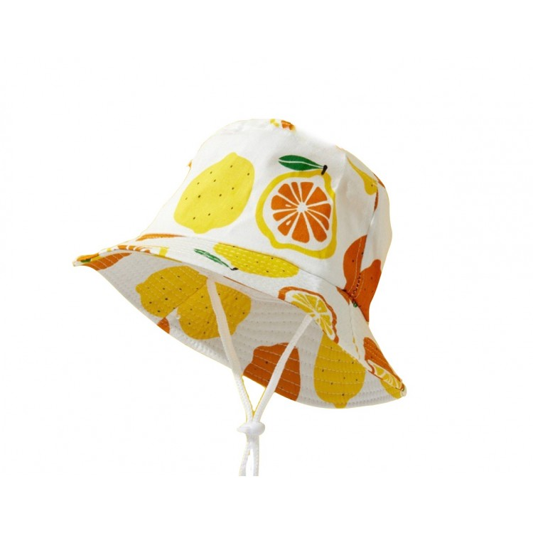 Cartoon Print Hat White - Yellow, princess dress, girl dress, party dress, feeding, mother, baby, feeding bottles, baby shoes, swimsuits, summer accessories, t-shirt