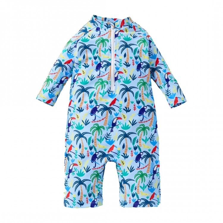 Mamababy.online, Boy Tree Long-sleeve Swimsuit - Blue, Girls, babykids, princess dress, girl dress, party dress, feeding, mother, baby, feeding bottles, baby shoes, swimsuits, summer accessories, t-shirt, maternity, shocks, costumes, nursing, bags, mother
