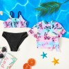 3-piece Girl Geometric Print Swimsuit - Multi-color, princess dress, girl dress, party dress, feeding, mother, baby, feeding bottles, baby shoes, swimsuits, summer accessories, t-shirt