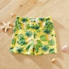 Boy Pineapple Print Trunks Shorts - Yellow, princess dress, girl dress, party dress, feeding, mother, baby, feeding bottles, baby shoes, swimsuits, summer accessories, t-shirt