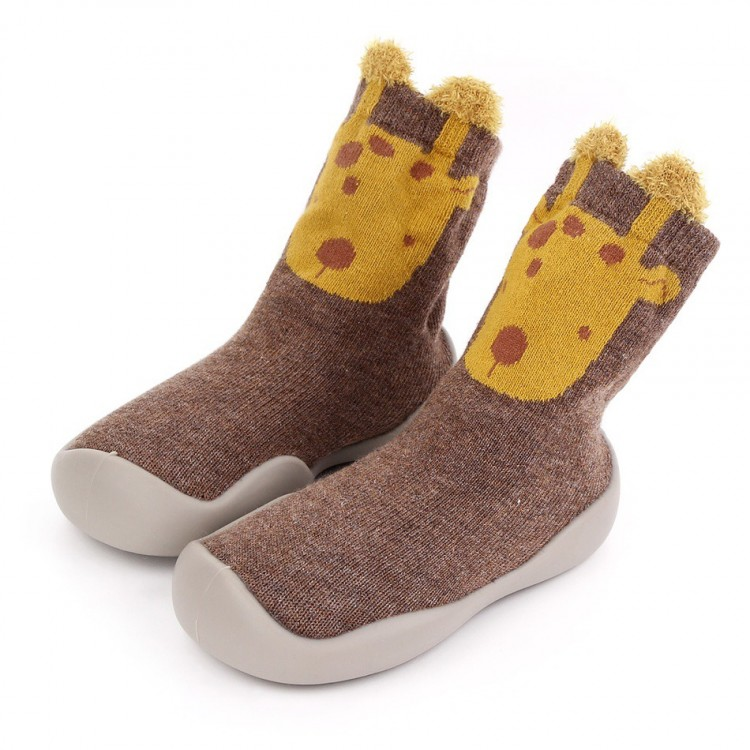 Mamababy.online, Toddler Animal Pattern Knitted Casual Prewalker Shoes Brown, Girls, babykids, princess dress, girl dress, party dress, feeding, mother, baby, feeding bottles, baby shoes, swimsuits, summer accessories, t-shirt, maternity, shocks, costumes