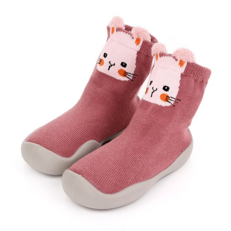 Toddler Animal Pattern Knitted Casual Prewalker Shoes Cameo Brown, princess dress, girl dress, party dress, feeding, mother, baby, feeding bottles, baby shoes, swimsuits, summer accessories, t-shirt