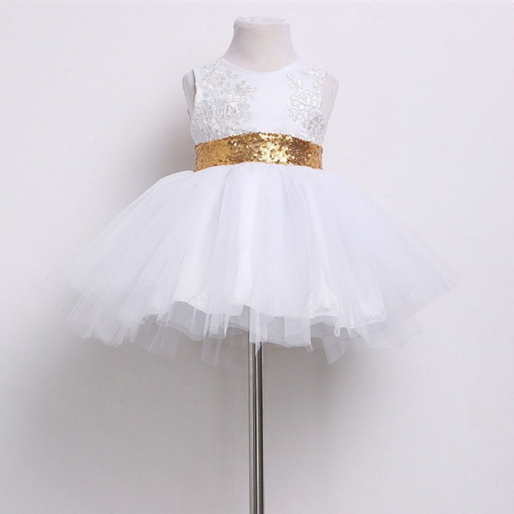 Girl Dress for party White