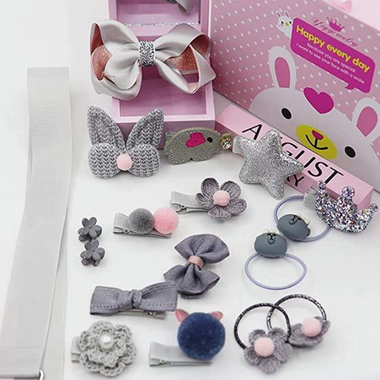 Mamababy.online, Accessories Set gift box for Girls - Light Grey, Girls, Accessories, princess dress, girl dress, party dress, feeding, mother, baby, feeding bottles, baby shoes, swimsuits, summer accessories, t-shirt, maternity, shocks, costumes, nursing