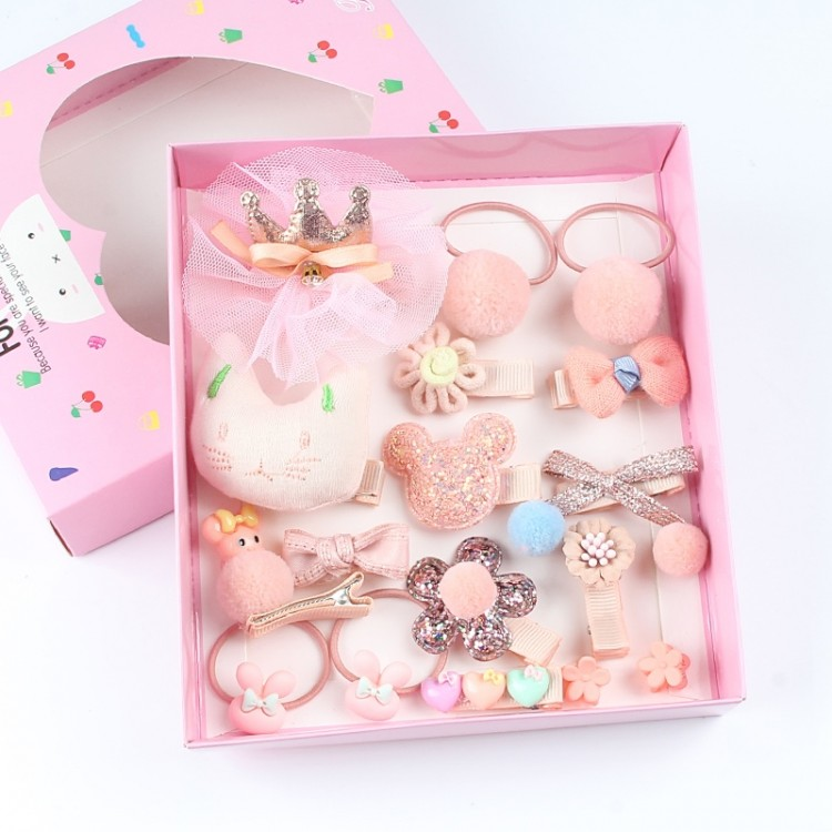 Accessories Set gift box for Girls - Coral, princess dress, girl dress, party dress, feeding, mother, baby, feeding bottles, baby shoes, swimsuits, summer accessories, t-shirt