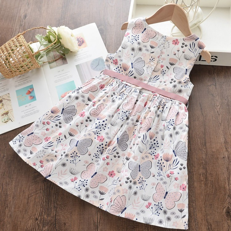 Pretty Butterfly Print Bowknot Dress, princess dress, girl dress, party dress, feeding, mother, baby, feeding bottles, baby shoes, swimsuits, summer accessories, t-shirt