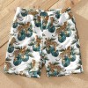 Jungle Tiger Print Matching Swimsuits Turquoise for Boys
