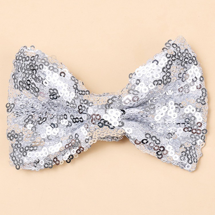 Bowknot Hairpin for Girls - Silver