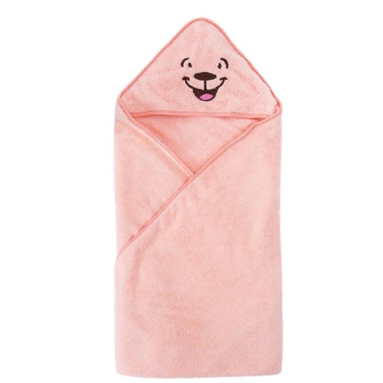 Cartoon hooded Spa Towel bathrobe beach towel - Pink, princess dress, girl dress, party dress, feeding, mother, baby, feeding bottles, baby shoes, swimsuits, summer accessories, t-shirt