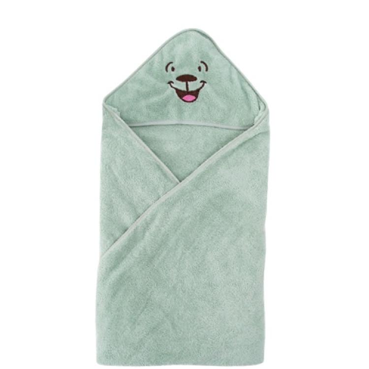 Cartoon hooded Spa Towel bathrobe beach towel - Green, princess dress, girl dress, party dress, feeding, mother, baby, feeding bottles, baby shoes, swimsuits, summer accessories, t-shirt