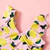 Stylish Fruit Print Swimsuit, princess dress, girl dress, party dress, feeding, mother, baby, feeding bottles, baby shoes, swimsuits, summer accessories, t-shirt