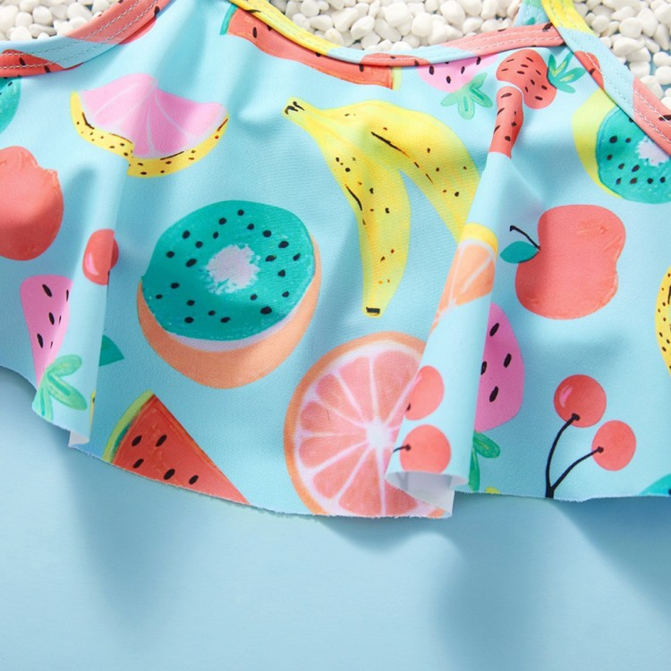 2pcs Baby Girl sling Fruit Swimsuit, princess dress, girl dress, party dress, feeding, mother, baby, feeding bottles, baby shoes, swimsuits, summer accessories, t-shirt