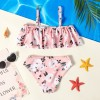 Girl Floral Swimsuit - Pink