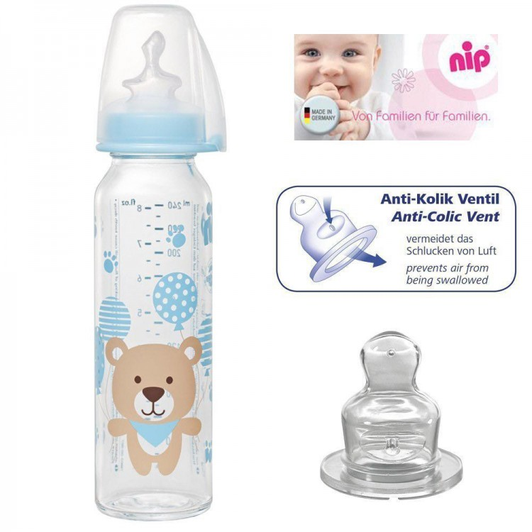 Standard Glass Bottle Silicone 6+ Months 250ml, princess dress, girl dress, party dress, feeding, mother, baby, feeding bottles, baby shoes, swimsuits, summer accessories, t-shirt