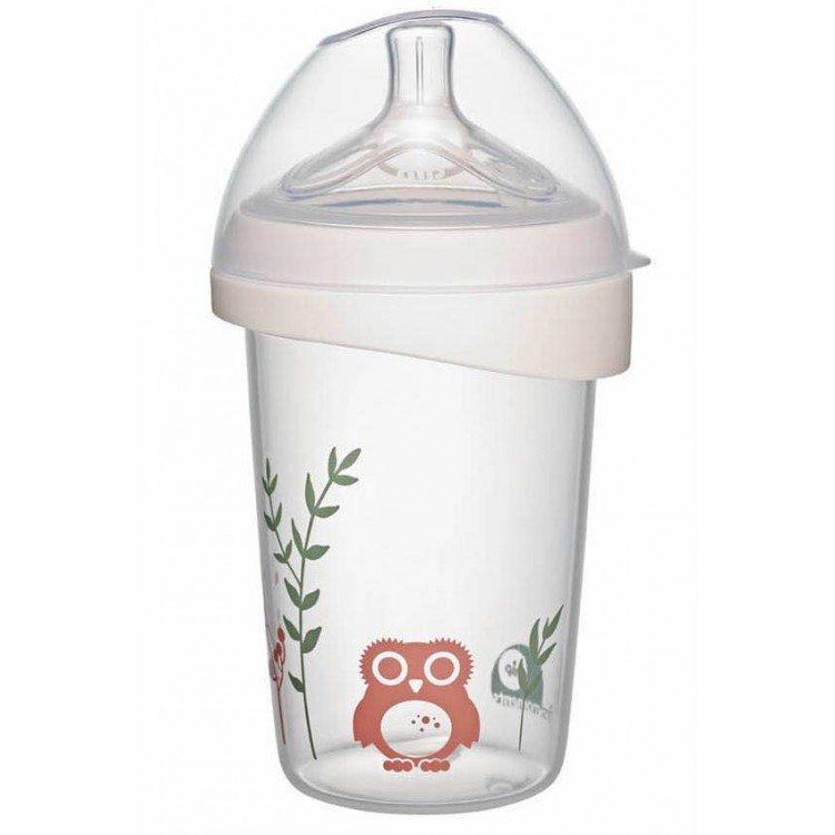 Mamababy.online, First moments wide-neck Owl bottle 270 ml 0+, Baby Bottles, Nip, princess dress, girl dress, party dress, feeding, mother, baby, feeding bottles, baby shoes, swimsuits, summer accessories, t-shirt, maternity, shocks, costumes, nursing, ba