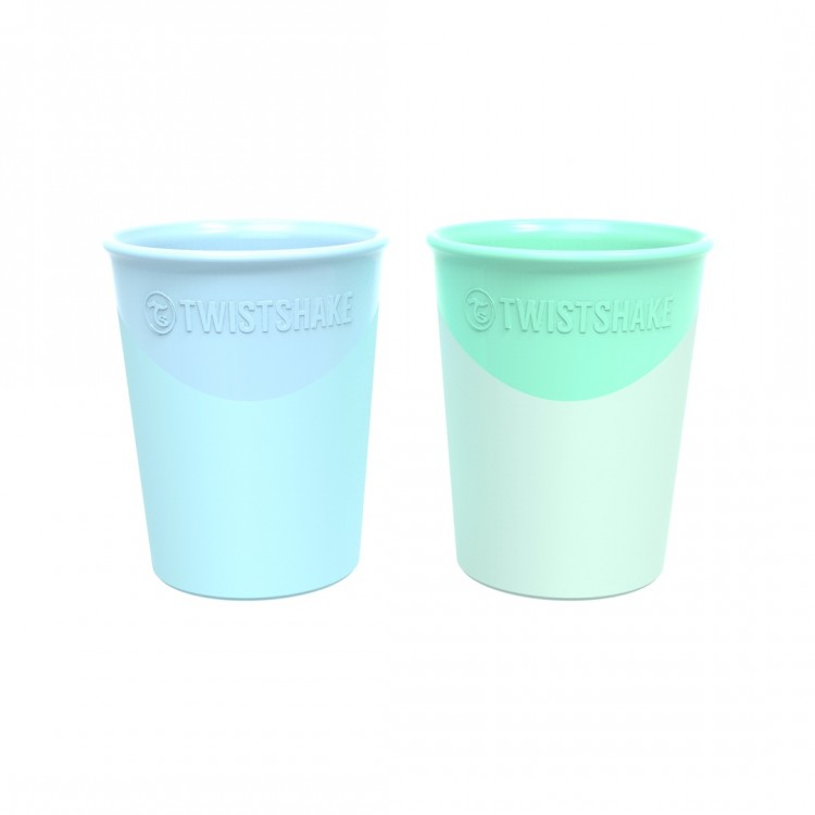 Mamababy.online, Twistshake 2x cup 170ml 6+m Pastel Blue Green, Bottle, twistshake, princess dress, girl dress, party dress, feeding, mother, baby, feeding bottles, baby shoes, swimsuits, summer accessories, t-shirt, maternity, shocks, costumes, nursing,