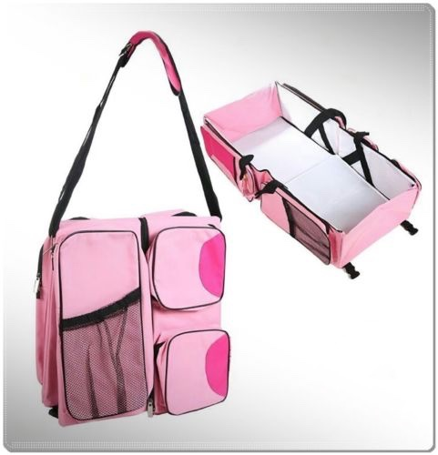 Portable Newborn baby bed Pink port bebe