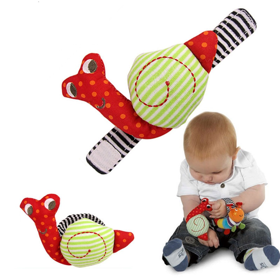 Snail Hand Rattles Finders baby   playing