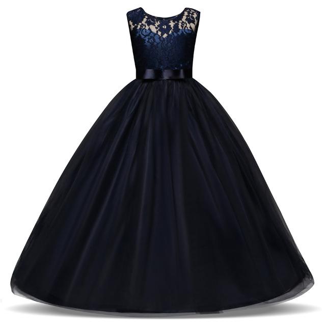 Girl Dress Blue Long