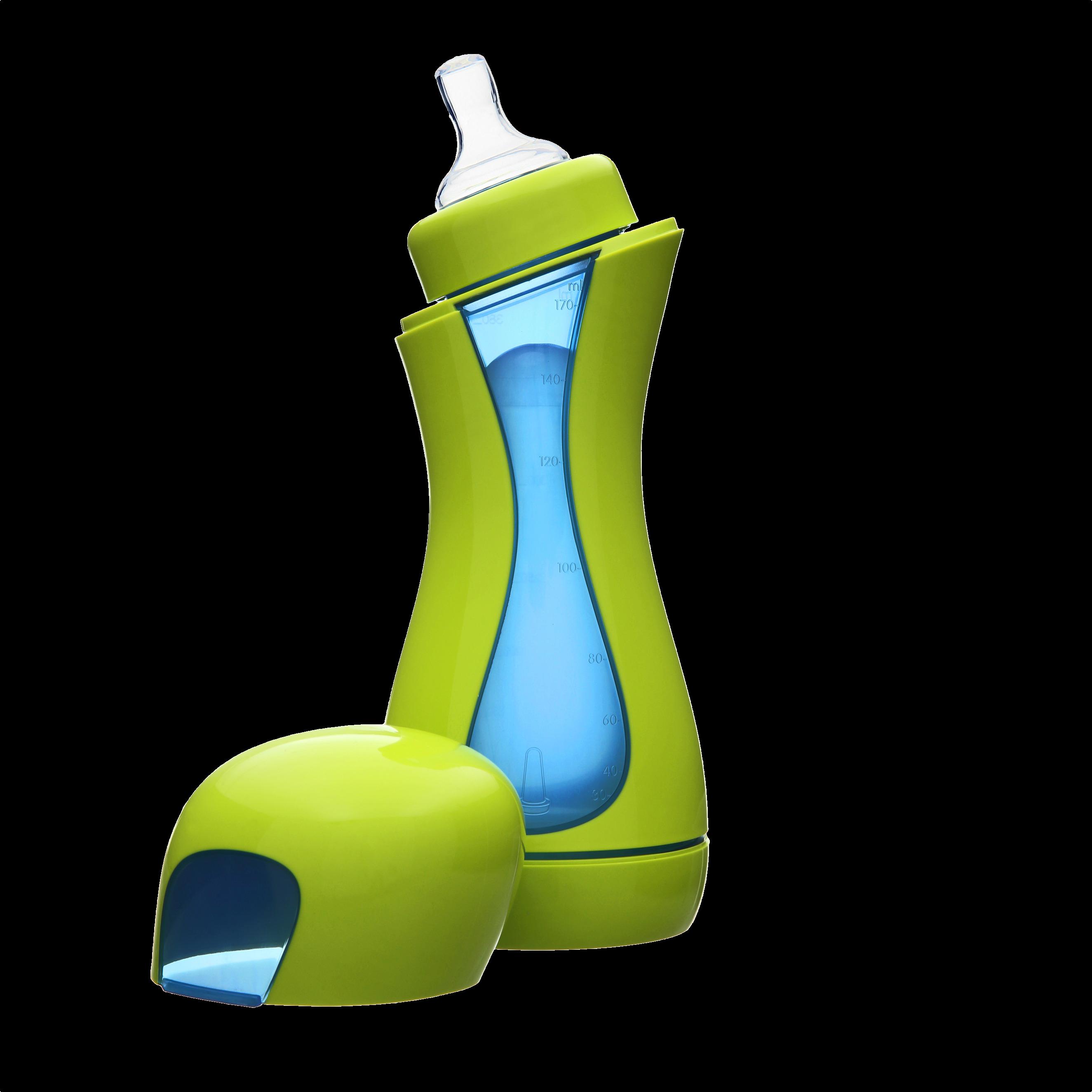 iiamo Go Self-heating Baby bottle (Green/Blue) baby   feeding   bottles