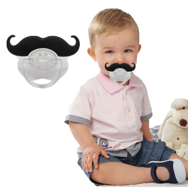 The Black Puaro - Mustache Baby Pacifier Orthodontic baby   feeding   soother   teat
