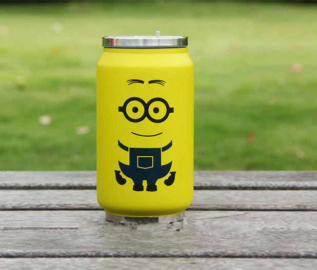 Stainless steel Water Bottle: Minion baby   feeding   bottle